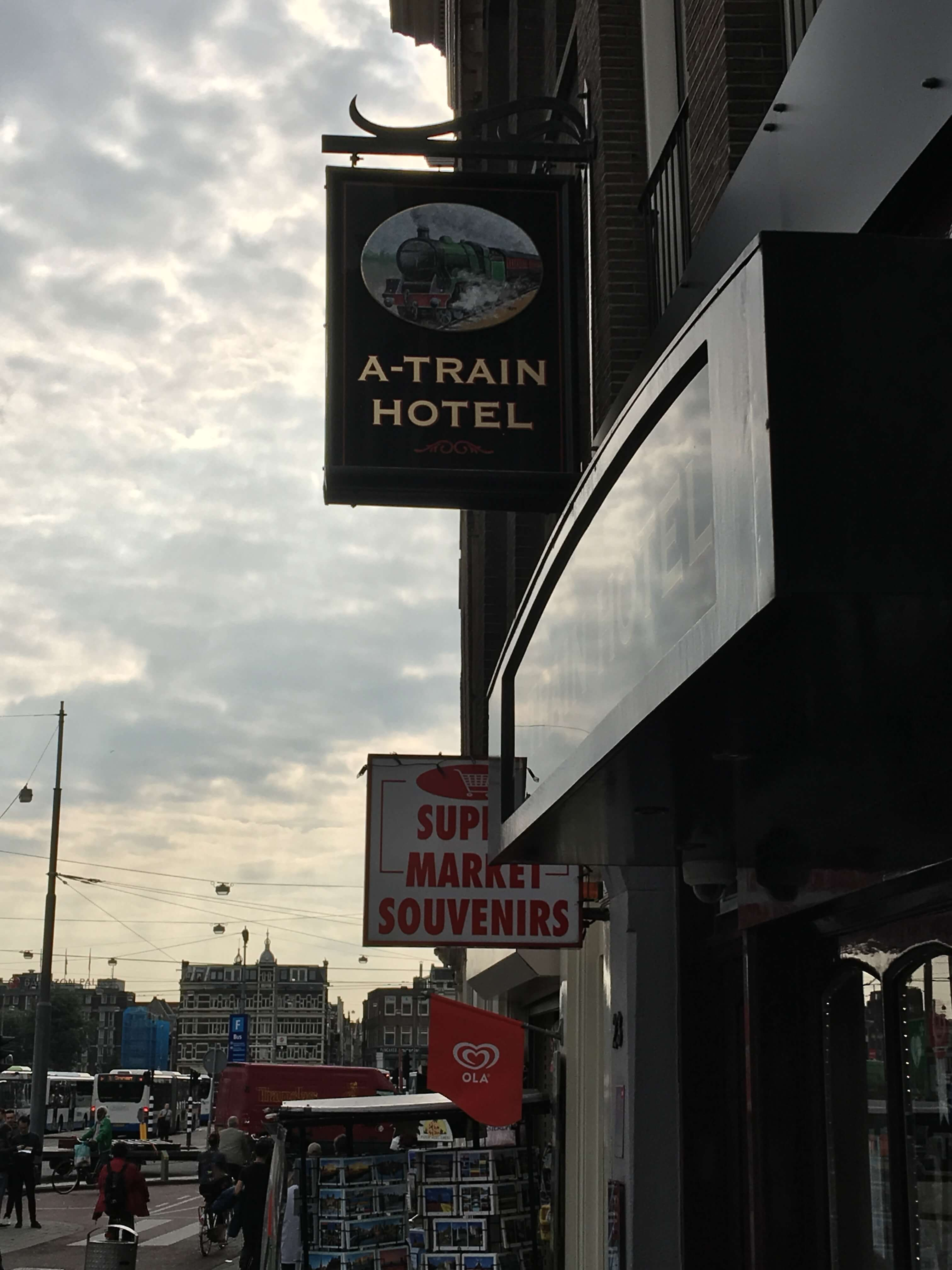 The best budget hotel in amsterdam a couple for the road for Train hotel amsterdam